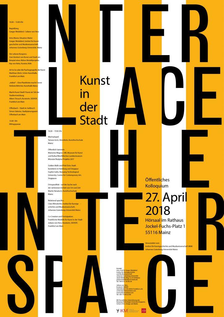 Interlace the Interspace | Öffentliche Kolloquium
