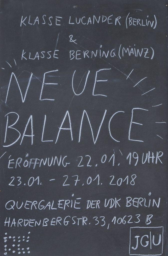Neue Balance, Quergalerie der UDK Berlin
