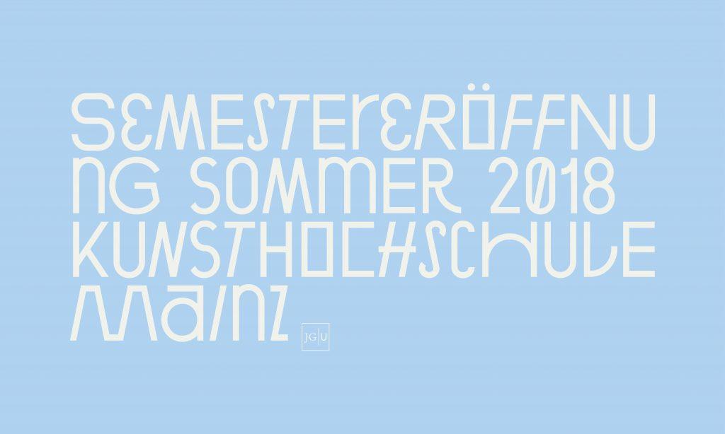 Semestereröffnung Sommer 2018