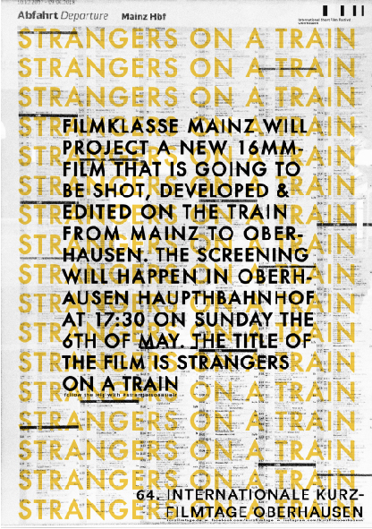 STRANGERS ON A TRAIN at Internationale Kurzfilmtage Oberhausen